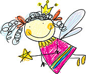 Little fairy (child's drawing collection)