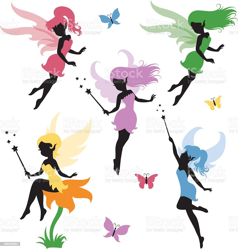 Fairy. vector art illustration