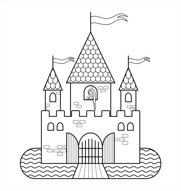 Castle Drawbridge Illustrations, Royalty-Free Vector