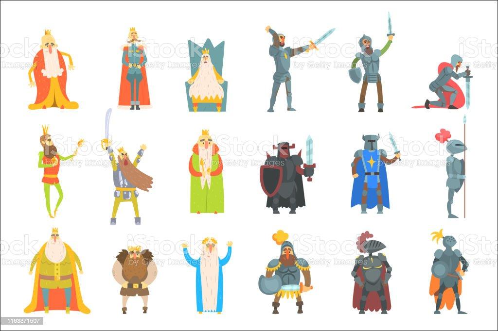 Vetores De Reis Do Fairytale Jogo De Ilustracoes Do Divertimento