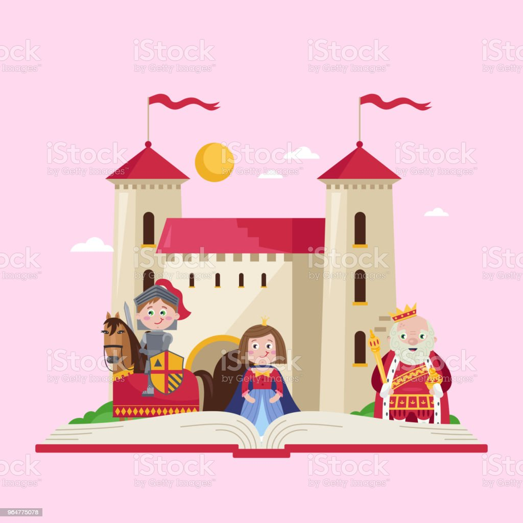 Fairytale poster in cartoon style royalty-free fairytale poster in cartoon style stock illustration - download image now
