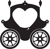 Fairytale Princess Carriage in Silhouette