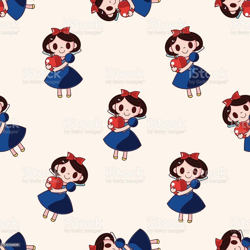 En princesa de un cuento de hadas historieta patrón sin costuras fondo de - ilustración de arte vectorial