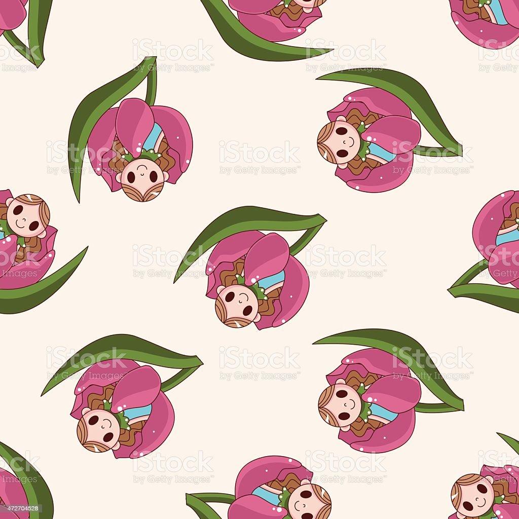 fairytale princess , cartoon seamless pattern background vector art illustration