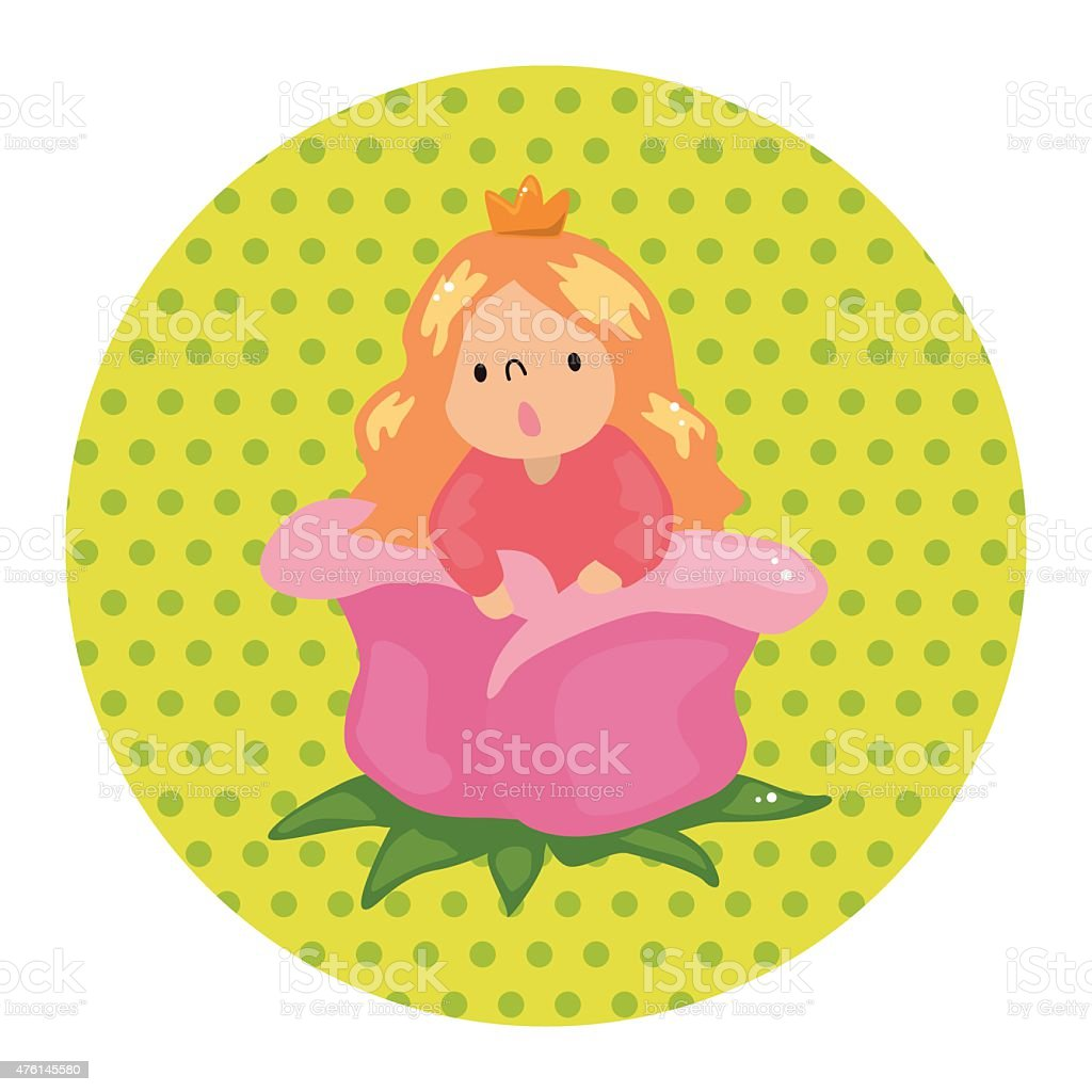 fairytale princess theme elements vector art illustration