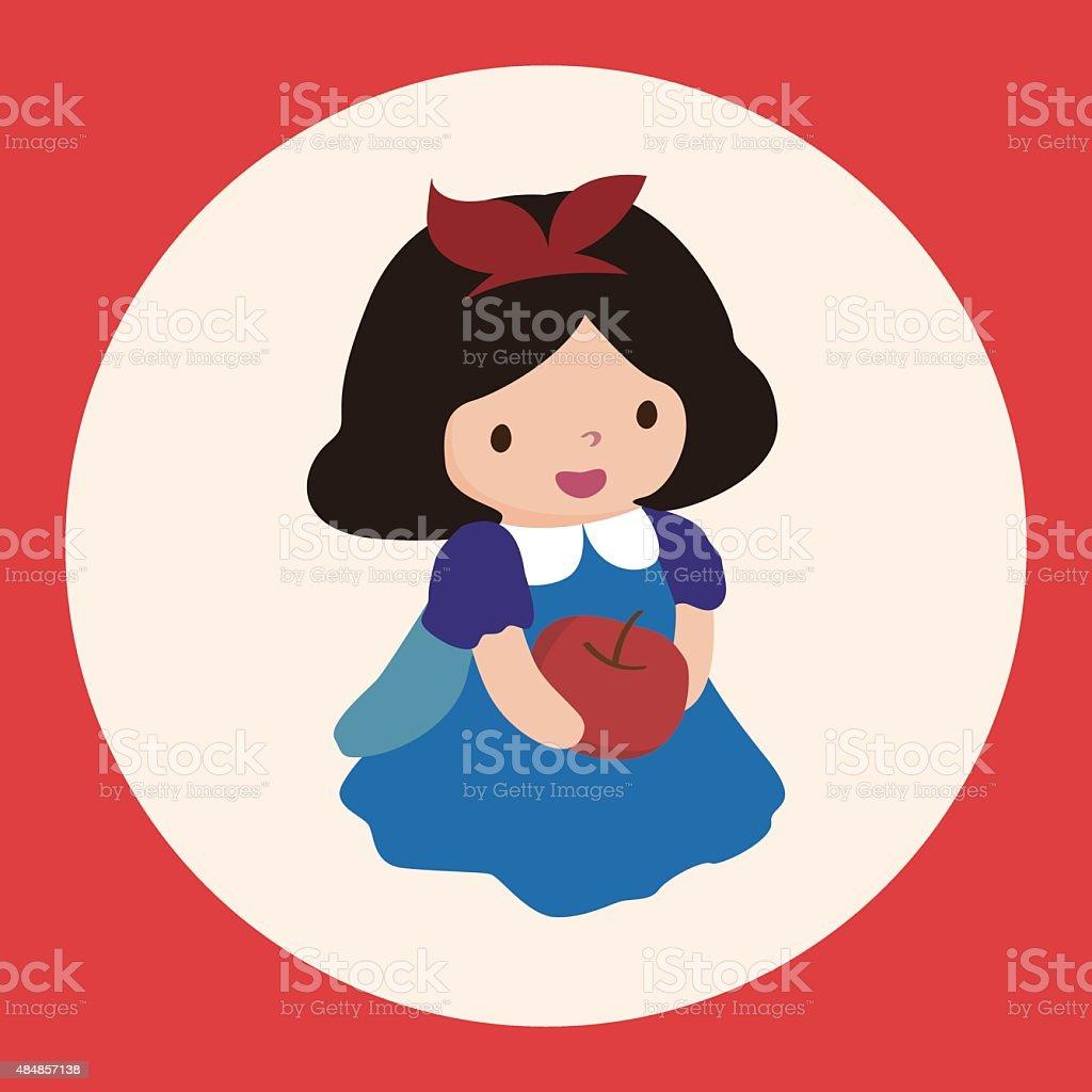 Princesa tema elementos de cuento de hadas - ilustración de arte vectorial
