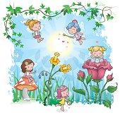 Springtime has finally arrived for the little fairies in their fairytale world.