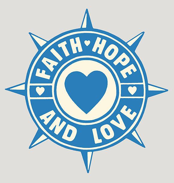 ilustrações de stock, clip art, desenhos animados e ícones de fé esperança e amor - hope
