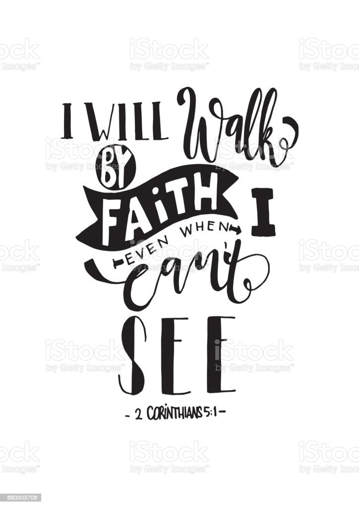 Faith Quote vector art illustration