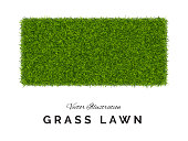 istock Fake Green Grass or Astroturf Square Background Isolated 1175185976