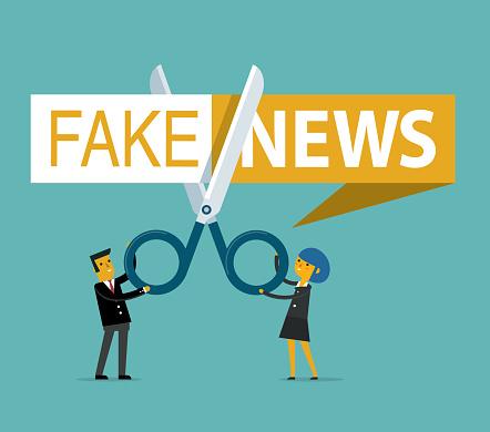 Fake news - cutting