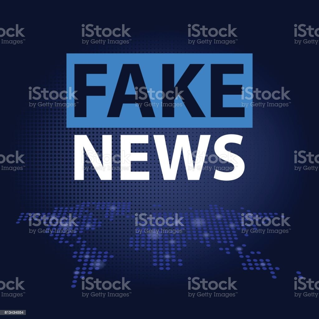 Fake news headline in blue dotted world map background vector fake news headline in blue dotted world map background vector illustration royalty free stock gumiabroncs Image collections