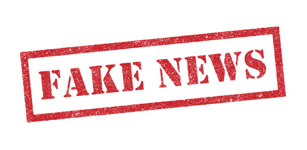 Fake news ink stamp Vector Illustration of the word Fake News in red ink stamp imitation stock illustrations