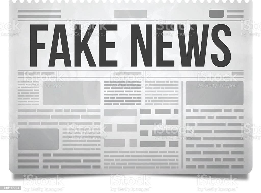 Fake News Newspaper vector art illustration