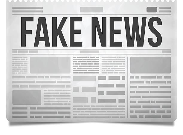 stockillustraties, clipart, cartoons en iconen met fake news newspaper - nieuwsevenement