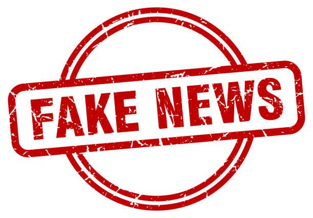 fake news stamp. fake news round vintage grunge sign. fake news vector art illustration