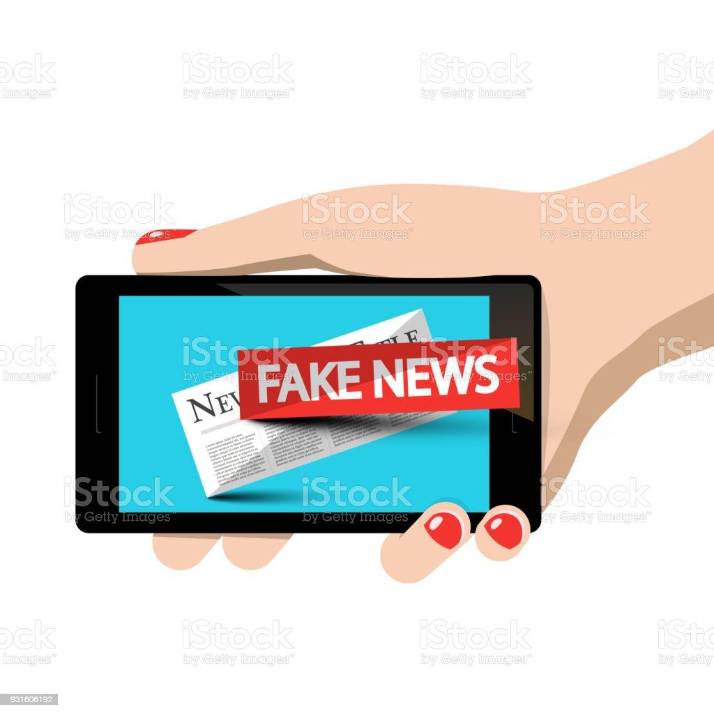 Fake News Symbol vector art illustration