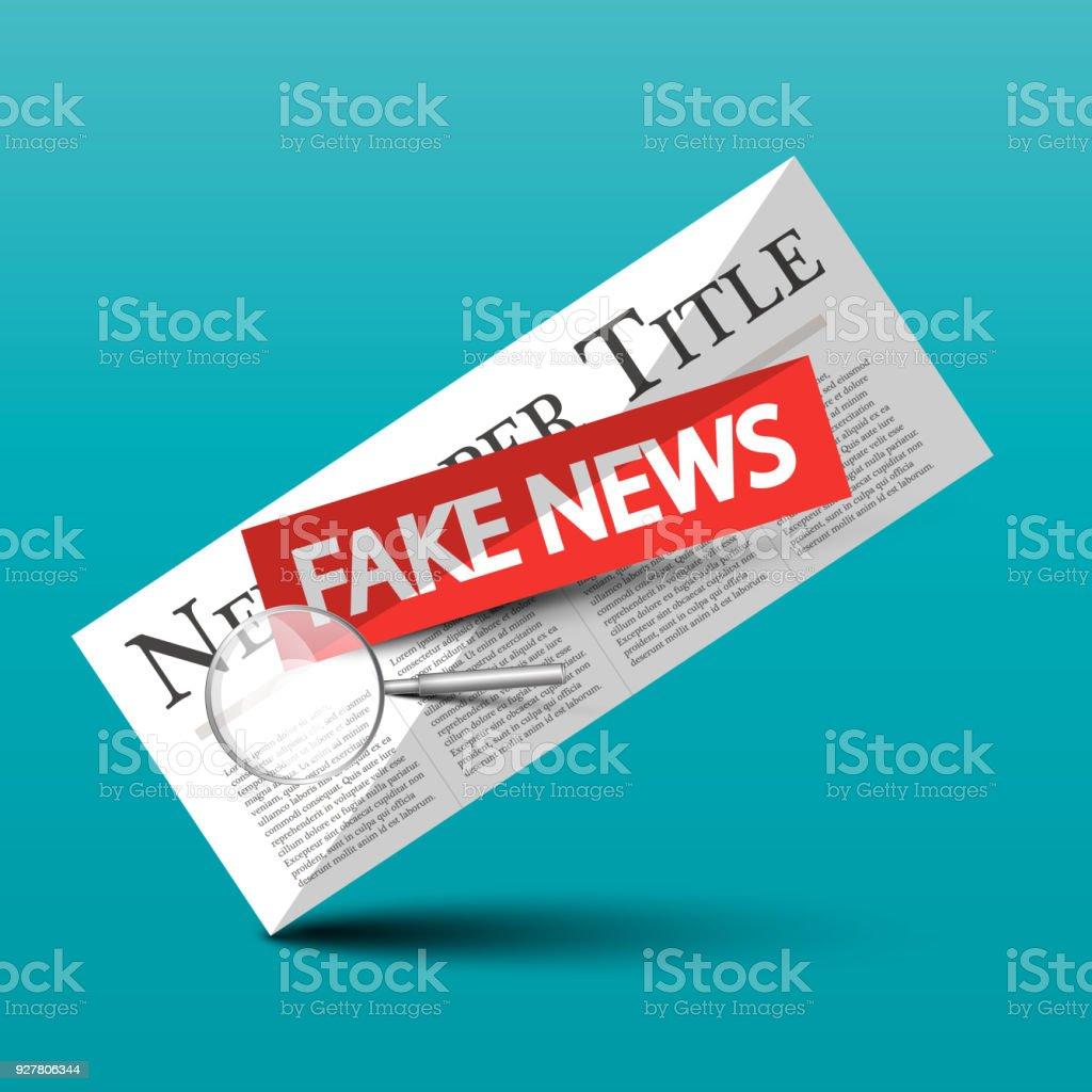 Fake News Vector Symbol vector art illustration
