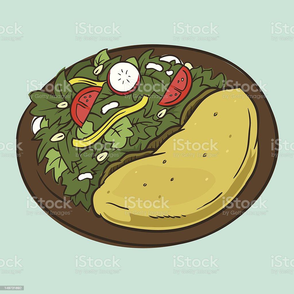 Falafel royalty-free stock vector art