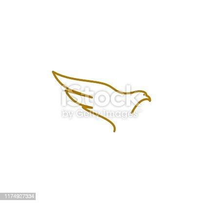 istock Falcon Eagle Bird 1174927334