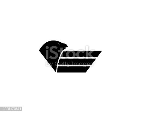 istock Falcon Logo Template 1225173671