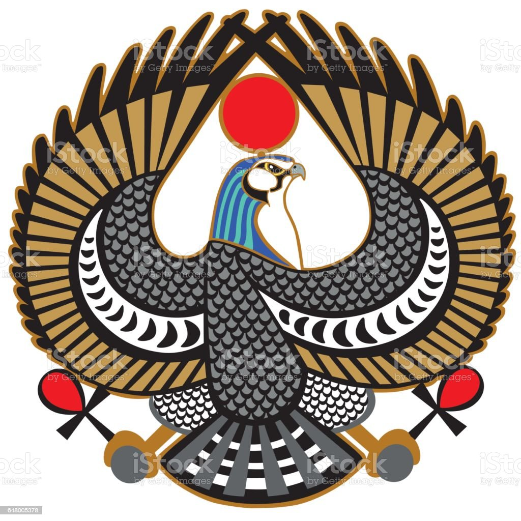 falcon symbol of Horus vector art illustration