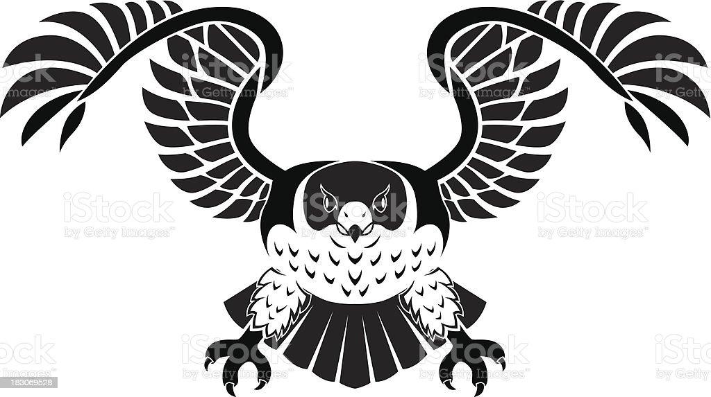 falcon vector art illustration