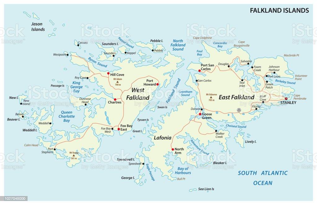 Islas Malvinas Mapa Mundi.Ilustracion De Las Islas Malvinas Malvinas Tambien Mapa De Camino Politico Y Mas Vectores Libres De Derechos De Abstracto
