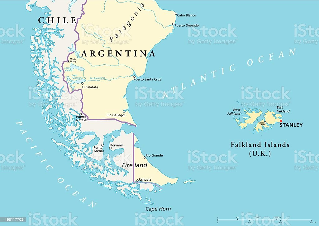 Falkland Islands Policikal Map royalty-free falkland islands policikal map stock vector art & more images of andes