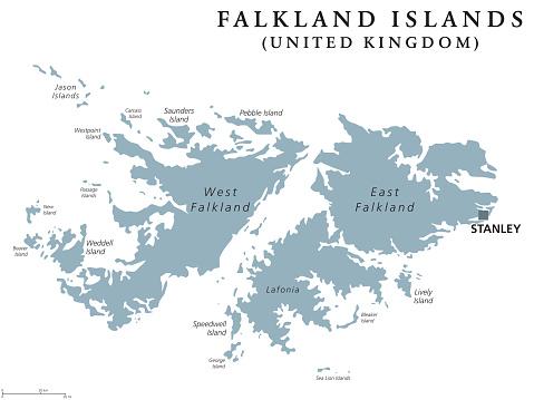 Falkland Islands political map