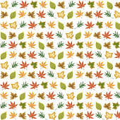 Vector Fall, Autumn Background with Leaves
