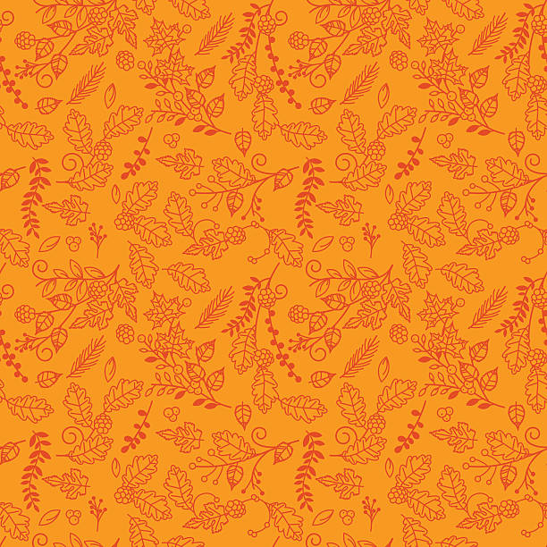 Fall, Autumn or Thanksgiving Vector Flower Pattern Fall, Autumn or Thanksgiving Vector Flower Pattern - Seamless and Tileable.  autumn patterns stock illustrations
