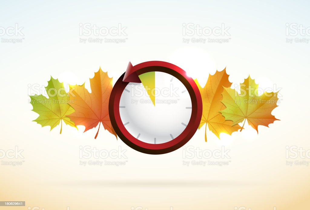Fall Back - Daylight savings royalty-free fall back daylight savings stock vector art & more images of autumn