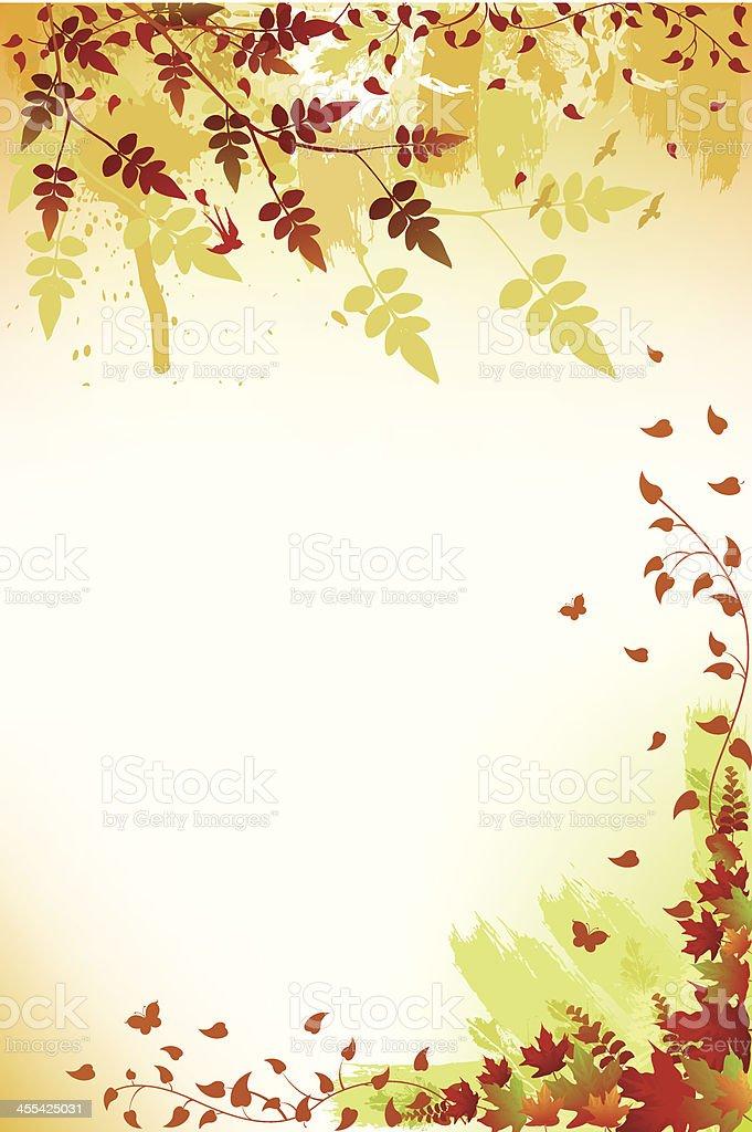 Fall Background vector art illustration