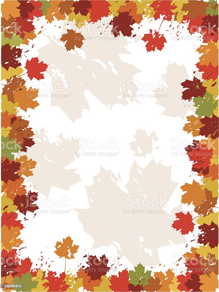 Fall background with leaves vector art illustration