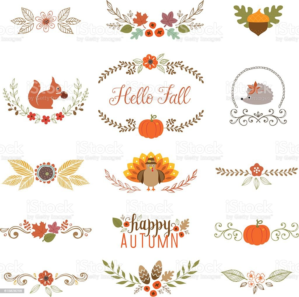 Fall Collection vector art illustration