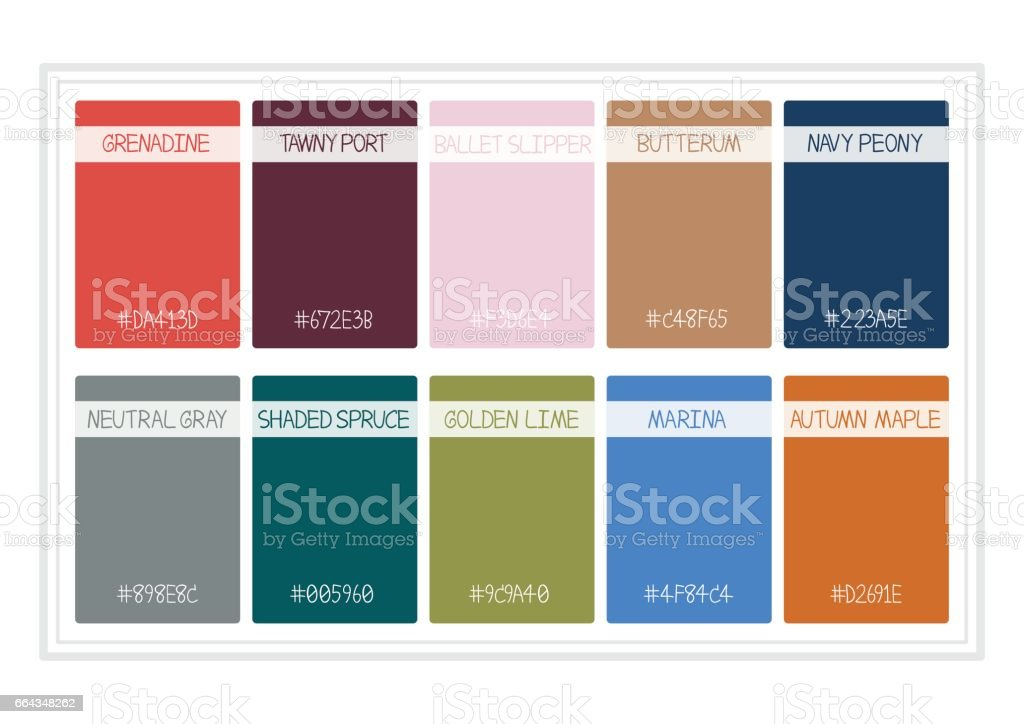 Fall Colors For 2017 Colors Of The Year Palette Fashion Colors With