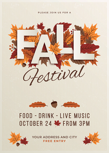 Fall festival poster template.