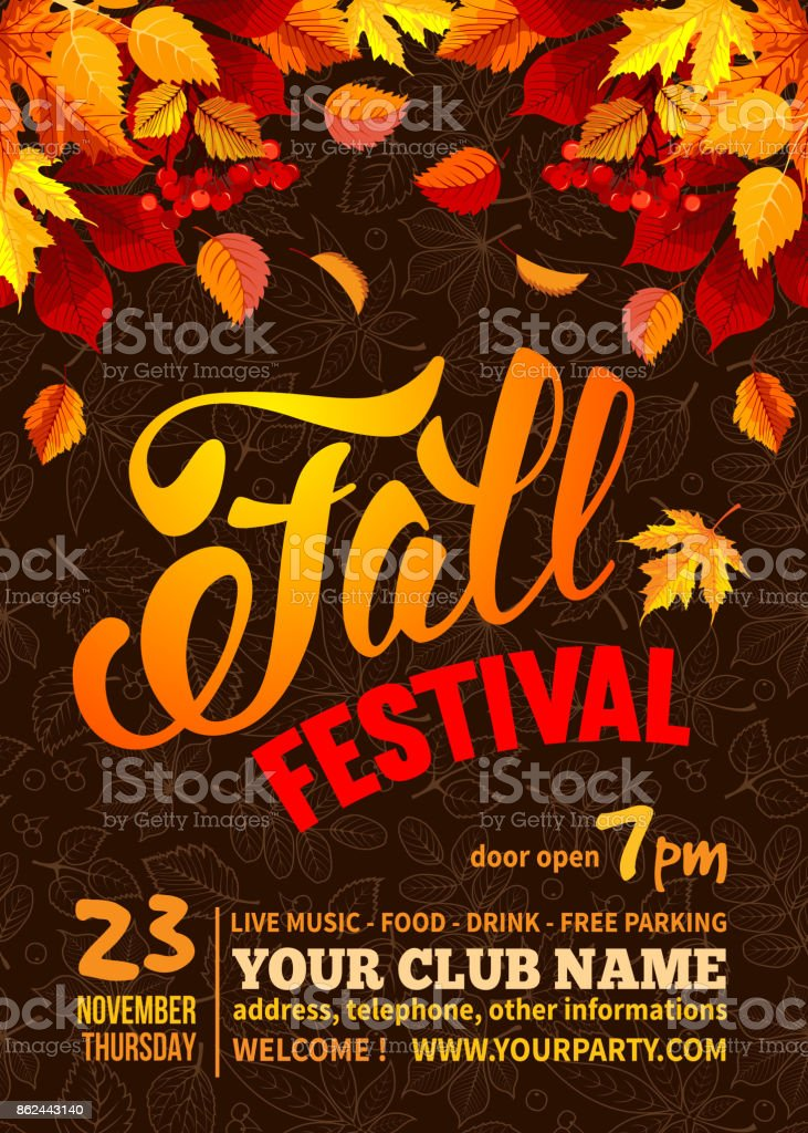 Fall festival vector art illustration