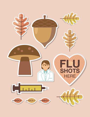 Fall Flu Shot Vaccination Poster