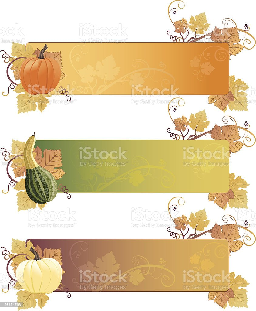 Fall Harvest Banners royalty-free fall harvest banners stock vector art & more images of autumn