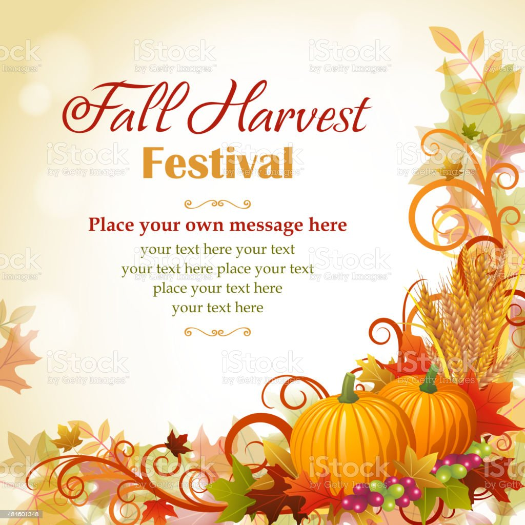 Fall harvest festival vector art illustration