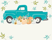 istock Fall Harvest Pickup Truck 1269723560