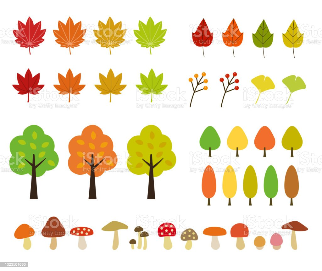Fall Icon Set Stock Illustration Download Image Now Istock