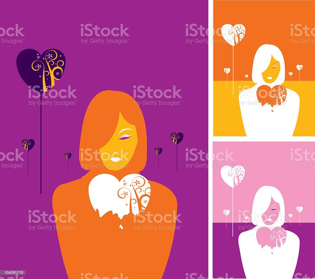 Fall in love royalty-free stock vector art