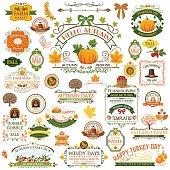 istock Fall Labels And Ornaments - Decorative elemnts 485013354