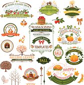Fall Labels And Ornaments