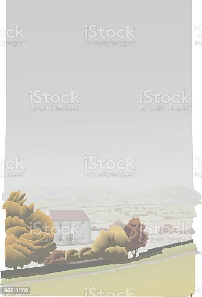 Fall Landscape Vector-vektorgrafik och fler bilder på Betesmark