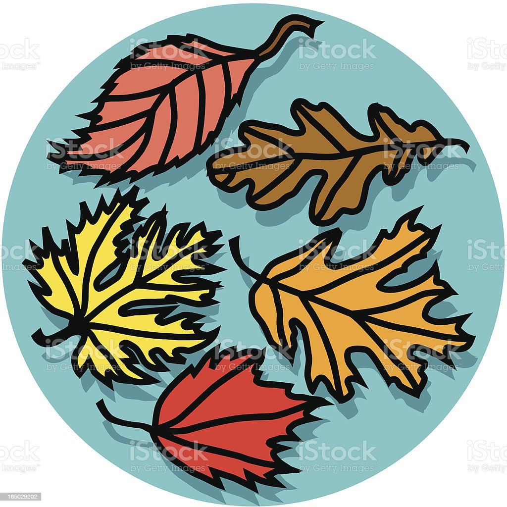 fall leaves 02 icon royalty-free stock vector art