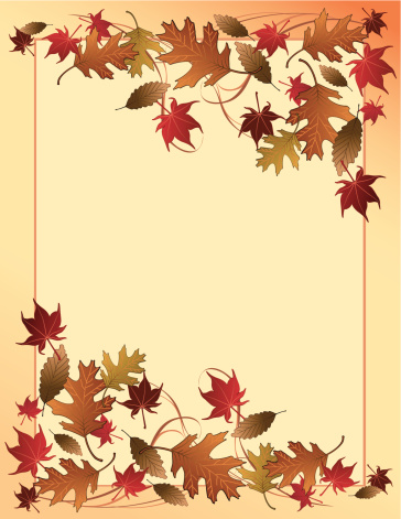 Fall Leaves Background Stock Illustration - Download Image Now
